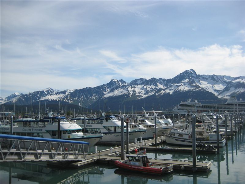 Seward Harbor and the Kenai Fjords Boat (2nd one in) that Mike drove