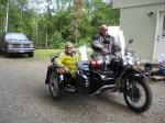 Kim and Mike on Chuck's Ural