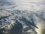 View of Alaska from our jet on the way home.