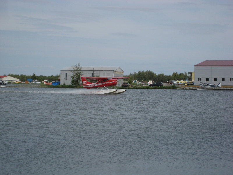 Cessna 182 at Fort Hood Seaplane Base, Alaska