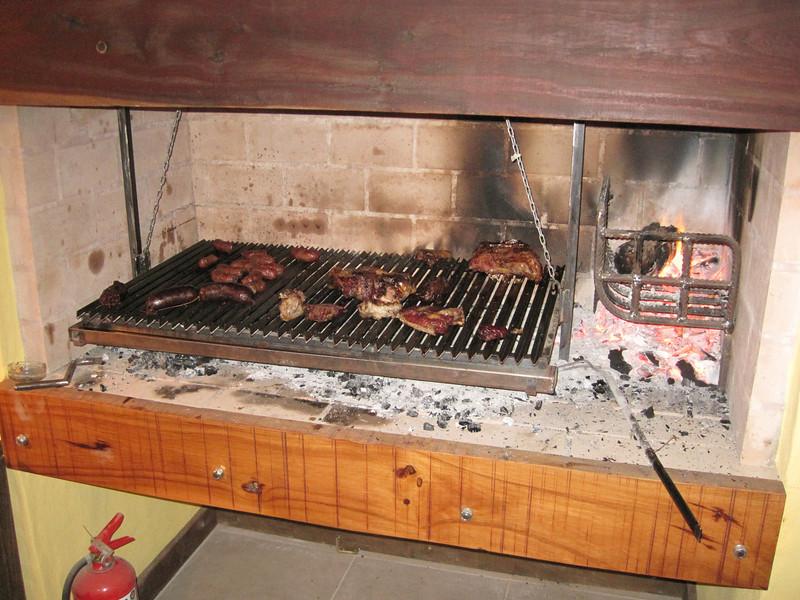 Our asado dinner