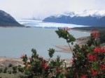 The first signs of the Perito Moreno Glacier.