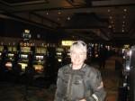 Kim lights up the casino.