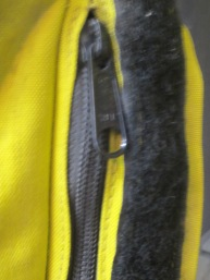 Standard Roadcrafter pocket zipper.