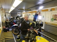 On board the Chunnel Train